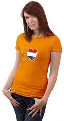 Oranje damesshirt I love Holland!